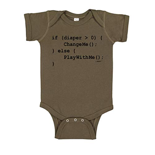 Programmer Baby Gifts Funny Baby Clothes Funny Baby Code STEM Bodysuit 6 Months Military Green