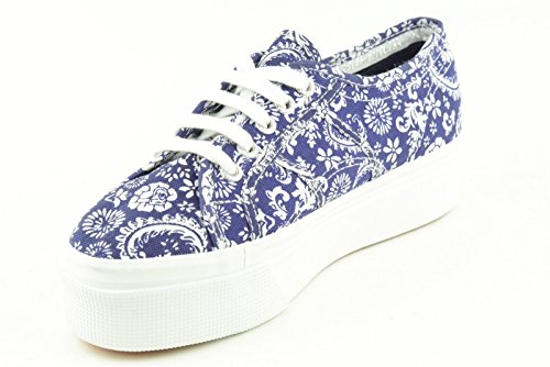 Superga 2790-Fantasy Cotw - Zapatillas de tela para mujer GREY SMOKE-YELLOW G