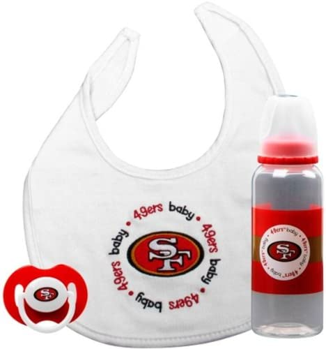 PACIFIER /& BOTTLE NEW BPA FREE BALTIMORE RAVENS 3 PIECE BABY GIFT SET BIB