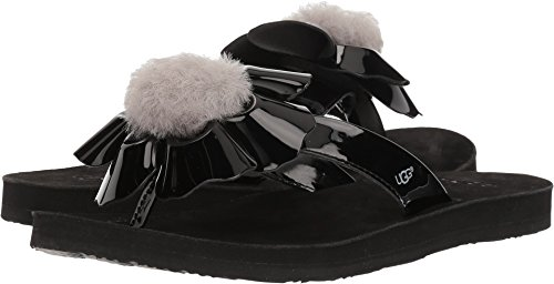 UGG Women's Poppy Flat Sandal, Black, 8 M US for sale  Delivered anywhere in USA