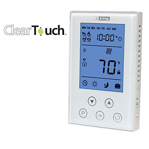 KING K302PE ClearTouch Electronic 7 Day Programmable Thermostat, ()