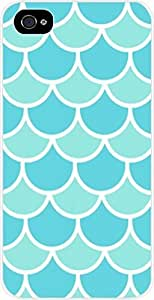 Blue Scallops- Case for the Apple Iphone 4-4s Universal- Hard White Plastic BY RANDLE FRICK by heywan