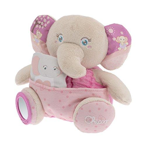 Mamãe Elefante Soft Cuddles, Chicco, Rosa