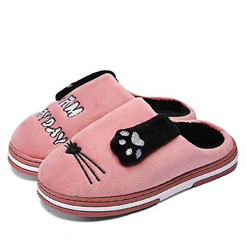 Baumwolle für Slippers Herren Herbst Wärme Plüsch Pink Winter Hausschuhe Unisex Weiche LILY999 Pantoffeln Damen Rutschfeste vCwxtwzp