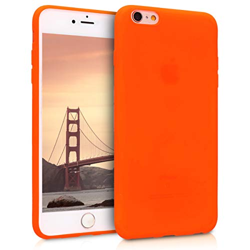 kwmobile TPU Silicone Case for Apple iPhone 6 Plus / 6S Plus - Soft Flexible Shock Absorbent Protective Phone Cover - Neon - Case Plus Neon 6 Orange Iphone