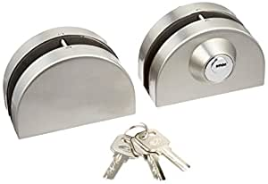 Sourcingmap a12042400ux0571 - Puerta de entrada de vidrio 10-12mm swing de empuje de la puerta corredera de bloqueo de teclas w