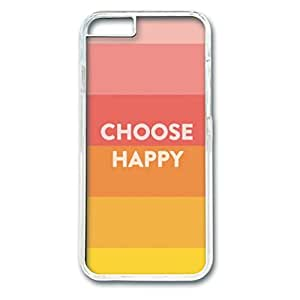 Iphone 6 Plus PC Hard Shell Case Choose Happy Transparent Skin by Sallylotus