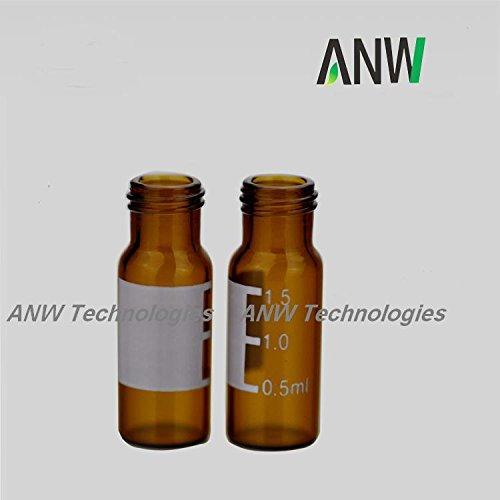 de opening short screw-thread vial with write-on spot, Amber, 11.6x32mm, 100 pcs/pk (Agilent Short)