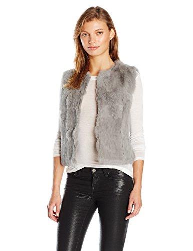 La Fiorentina Women's Plush Fur Vest, Grey, Large/X-Large by La Fiorentina