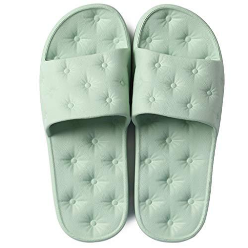 Salle Maison Femmes Taille D'été Non Chaussures Sandales Green 36EU Couples 35 Et Épais Modèles Pantoufles Slip Couleur AMINSHAP De Bain Pink Doux Bains De Light Fond Pantoufles Bas vSqx5ECH0w