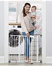 Regalo Easy Step 38.5-Inch (97.75cm) Extra Wide Baby Gate, Bonus Kit, Includes 6-Inch (15.25cm) Extension Kit, 4 Pack Pressure Mount Kit and 4 Pack Wall Mount Kit