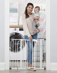 Regalo Easy Step 38.5-Inch (97.75cm) Extra Wide Baby Gate, Bonus Kit, Includes 6-Inch (15.25cm) Extension Kit,