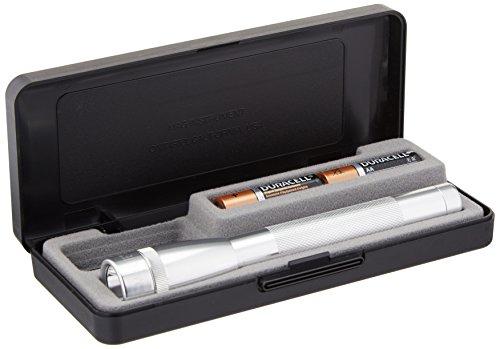 (MagLite SP+P107M 2AA Mini Pro+ LED Flashlight, Silver)