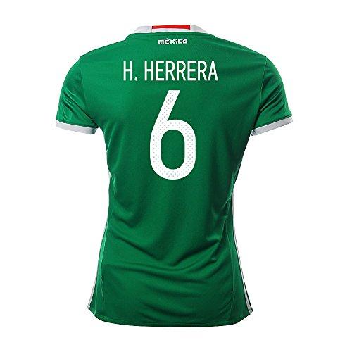 内なる汚れた圧倒するH. HERRERA #6 Mexico Women's Home Jersey COPA America 2016(Authentic name & number)/サッカーユニフォーム メキシコ ホーム用 H. エレーラ レディース向け