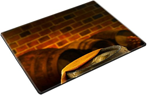 MSD Place Mat Non-Slip Natural Rubber Desk Pads design: 27961482 wine cellar with wine barrels