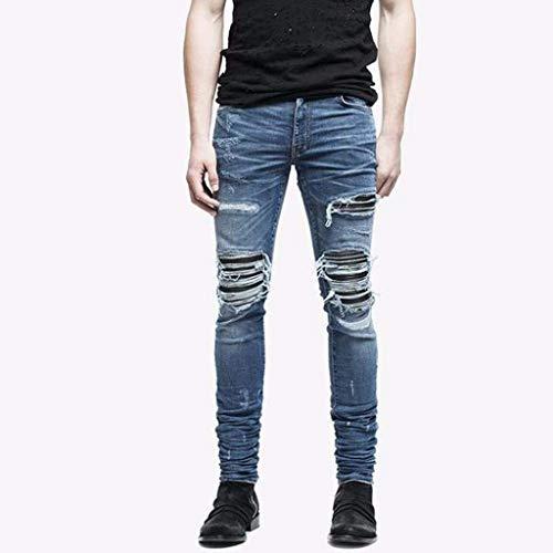 Bobo Blau Strappati Da Nudi E Casual Aderenti Con Jeans Estilo Especial Skinny Pantaloni Uomo 88 Denim Elasticizzati rqaXrwB1Z