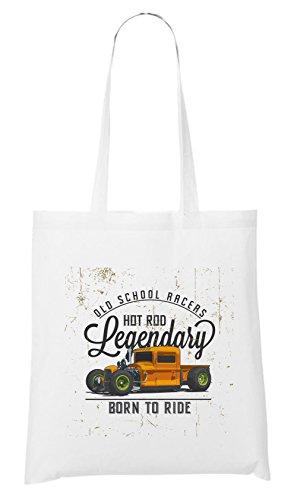 Old School Racers Bag White Certified Freak