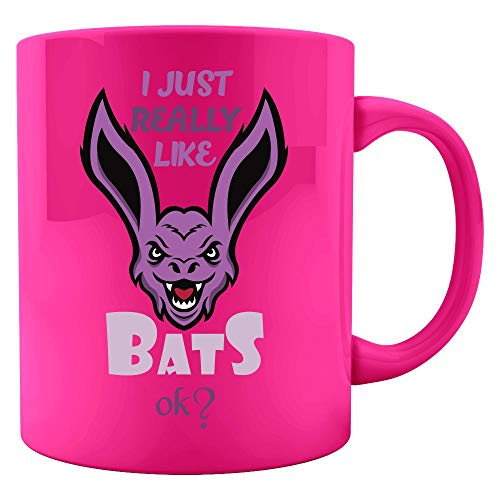 Bat Lover Gift Idea I Just Really Like Halloween Themed Colored Mug design -