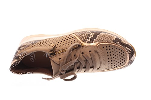 Mujeres Zapatos planos taupe-rosegold taupe-rosegold 12-34556-08