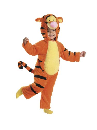 When I Grow Up Costume (Tigger Deluxe Two-Sided Plush Jumpsuit Costume - Large)