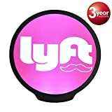 Lyft Sign, LED Logo Light Sticker Glow Decal Accessories Removable,Lyft Glowing Signs for Car Taxi Driver, Uber Lyft Light up Dry Battery Power