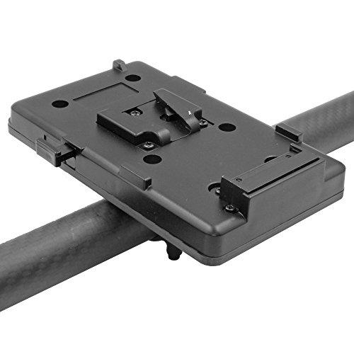 GyroVu V-Mount Battery Carbon Fiber Mount with D-Tap Female Connector for DJI Ronin Gimbal