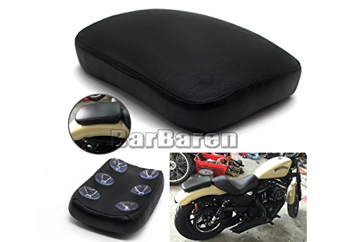 Pillion Pad Seat 6 Suction Cup For Harley Dyna Sportster Softail Touring XL 883 -
