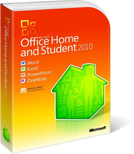 Microsoft Office Home & Student 2010 3-Users, DVD