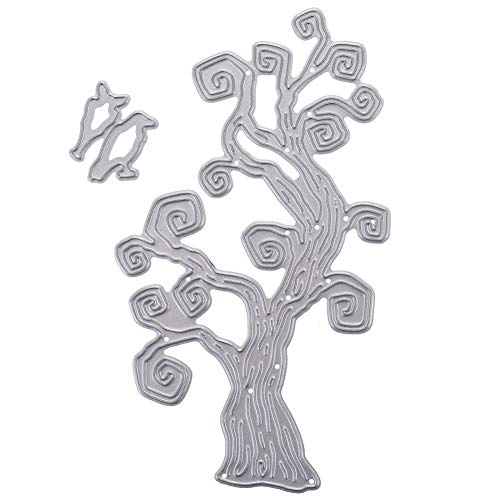 Zzeroe Cutting Dies Halloween Witch Pumpkin Embossing Stencil Template Mould for DIY Scrapbook Photo Album Embossing Craft Decoration Paper Card Making(H05) -