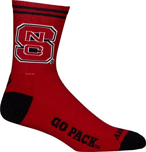 NCAA North Carolina State Wolfpack Cycling/Running Socks, Red, Small/Medium ()