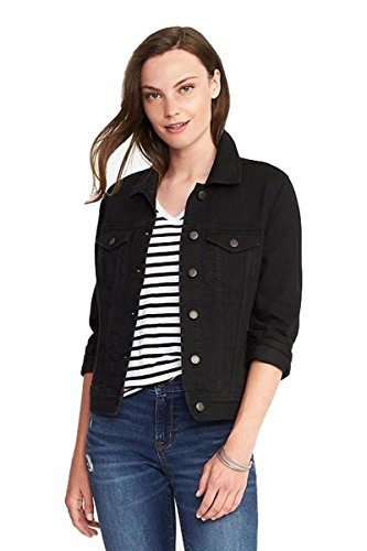 Old Navy Back to School Sale Black Denim Jacket for Teens & Women (Small) Included! ()