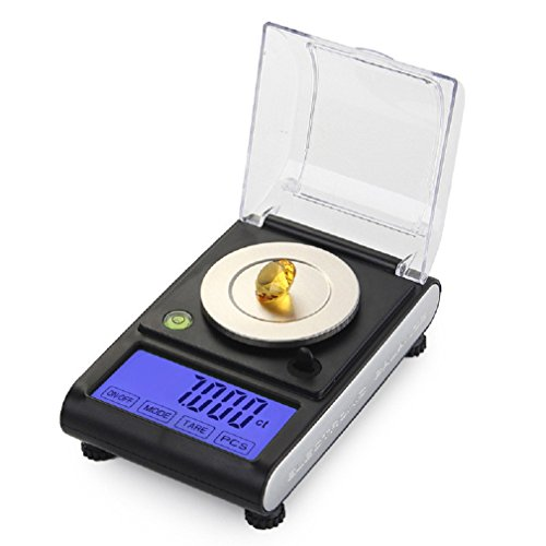 (SUEKQ Digital Pocket Scale Kit, Portable 0.001g Kitchen Food Scale Jewelry Weight Compact Scale Powder Precision Electronic Balance)