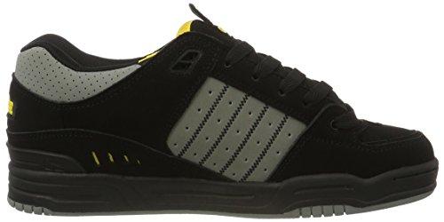 Globe Fusion, Zapatillas de Skateboard para Hombre Negro (Black/grey/yellow)