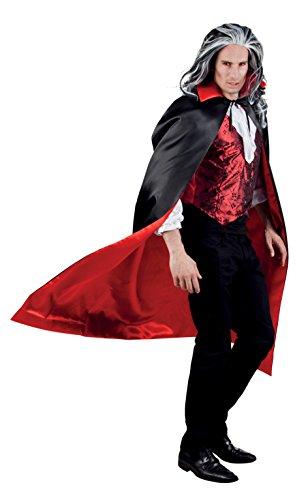 Boland 96935;Vampire Cape Black/Red,153cm
