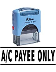 A/C PAYEE ONLY Self Inking Rubber Stamp Office Stationary Custom Shiny Stamp