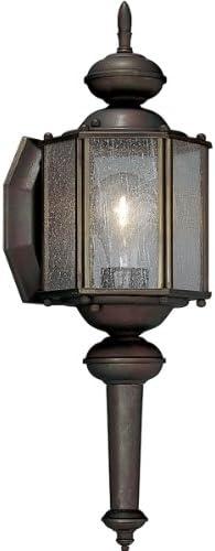 Progress Lighting P5773-19 Lantern with Clear Seeded Glass, Roman Bronze