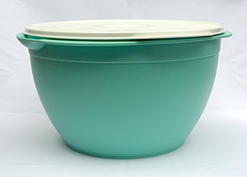 Tupperware 42cup Maxi Salad Turquoise Giant Bowl with White Seal