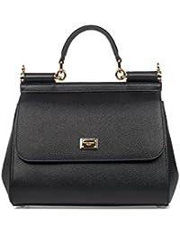 Women's BB6002A100180999 Black Leather Handbag