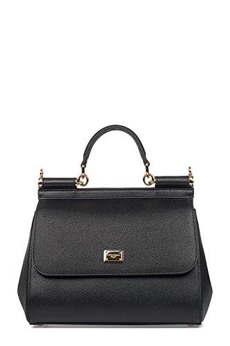 Dolce E Gabbana Women's Bb6002a100180999 Black Leather - Gabbana Black Bag Dolce And