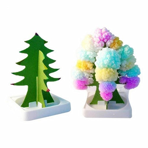 Iusun Paper Tree Flowering Toy, Creative Colorful Magic Tree Paper Crafts Christmas Gift Toys (Multicolor)