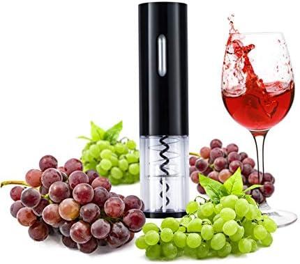 Sacacorchos eléctrico de vino, sacacorchos eléctrico automático, sacacorchos de vino doméstico portátil, sacacorchos de vino (negro)