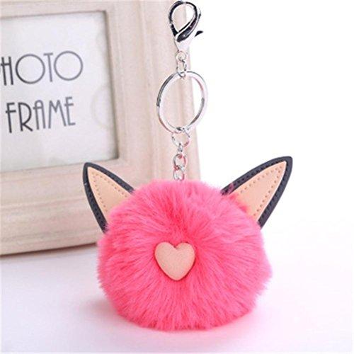 CieKen Cute Cat Ears Keychain Pendant Women Key Ring Holder Pompoms Key Chains (Wien - Shopping Wien