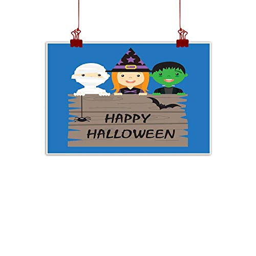 Mannwarehouse Wall Art Decor Poster Painting Halloween Costume Party with Kids Decorations Home Decor 24