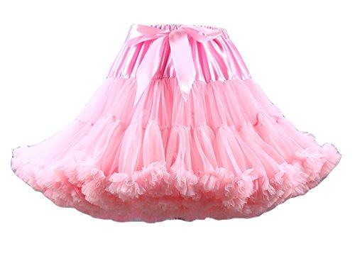 Femme Vintage Tutu Jupe Courte Underskirt Petticoat Jupon Ballet Jupes Tutu en Tulle Lumire Pink