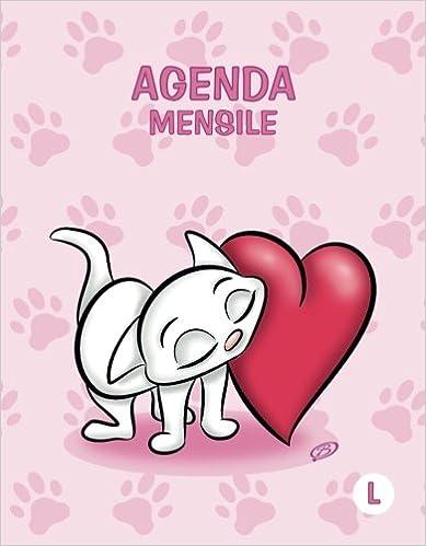 Agenda mensile - L: Rosa - Gatti - Perpetua (Senza date ...