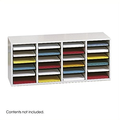 Scranton & Co Grey 24 Compartment Wood Adjustable File Organizer by Scranton & Co