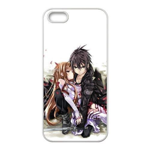 E2S18 Sword Art Online K6V7IV coque iPhone 4 4s cellule de cas de téléphone couvercle coque blanche DH4MWS3PK