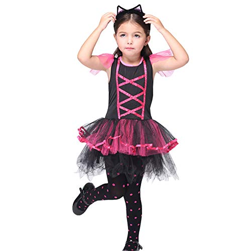 CH&Q Kids Girls Vampire Suit Role Play Fancy Dress Up Cosplay Child Party Halloween -