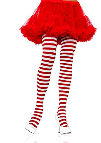 Womens Plus Size Nylon Striped Tights