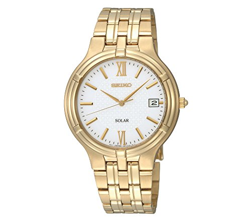 Seiko-Mens-Goldtone-White-Dial-Solar-Dress-Watch